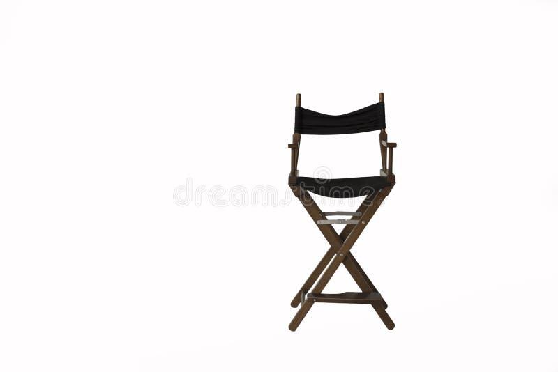 Καρέκλα διευθυντή σε ένα άσπρο υπόβαθρο  στοκ εικόνες