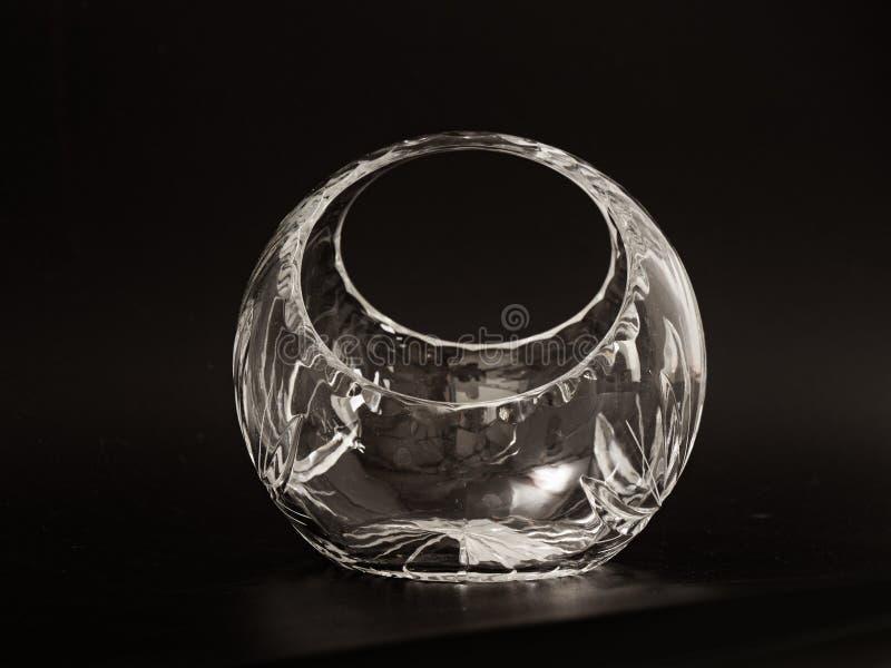 Καραμέλα γυαλιού κρυστάλλου σε ένα μαύρο υπόβαθρο στοκ φωτογραφίες με δικαίωμα ελεύθερης χρήσης