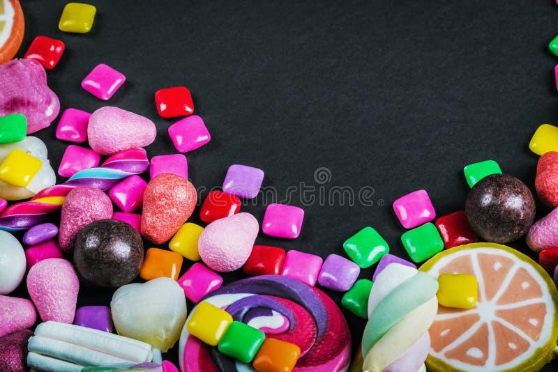 Καραμέλα, γόμμα, lollipops, μαρμελάδα και άλλα γλυκά στοκ φωτογραφίες με δικαίωμα ελεύθερης χρήσης