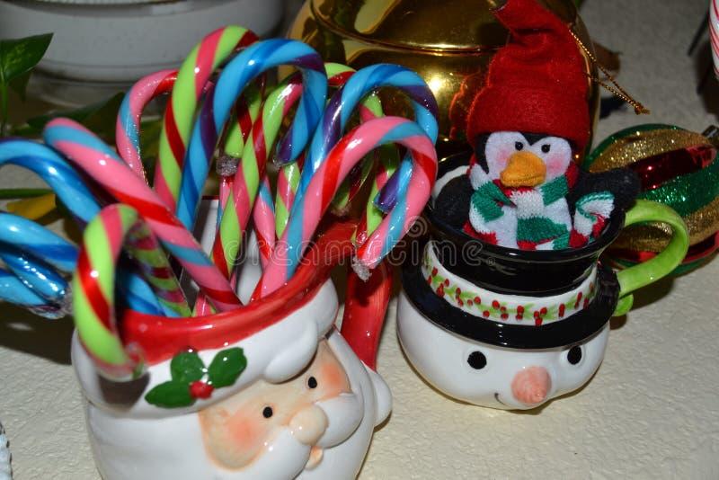 Καραμέλα και επιδείξεις Χριστουγέννων στοκ εικόνες