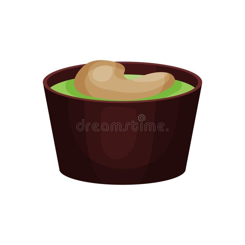 Καραμέλα σοκολάτας με την πράσινη πλήρωση φρούτων και το καρύδι φυστικιών Εύγευστο γλυκό επιδόρπιο για το τσάι ή το διάλειμμα νόσ ελεύθερη απεικόνιση δικαιώματος