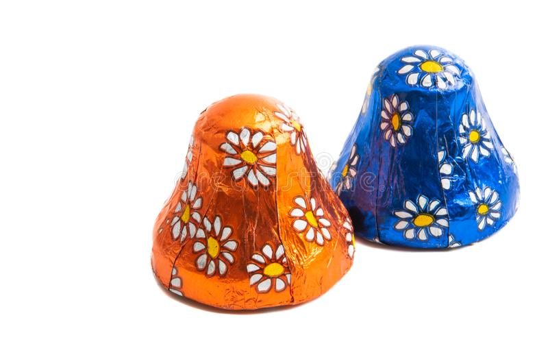 Καραμέλα σοκολάτας στο φύλλο αλουμινίου στοκ εικόνες με δικαίωμα ελεύθερης χρήσης