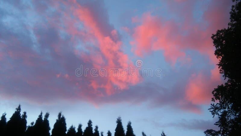 Καραμέλα βαμβακιού στον ουρανό στοκ εικόνες