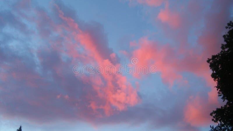 Καραμέλα βαμβακιού στον ουρανό στοκ φωτογραφίες με δικαίωμα ελεύθερης χρήσης
