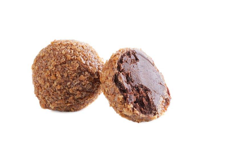 Καραμέλα σοκολάτας με τη μμένη ζάχαρη, κινηματογράφηση σε πρώτο πλάνο στοκ εικόνες με δικαίωμα ελεύθερης χρήσης