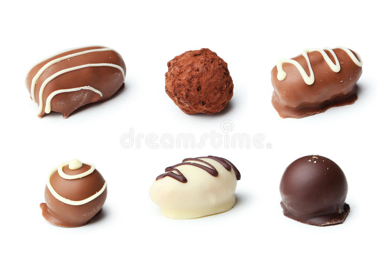 Καραμέλες σοκολατών στοκ εικόνες