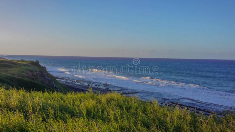 Καραϊβική θάλασσα, τροπική παραλία στο νότο του Πουέρτο Ρίκο στοκ εικόνα
