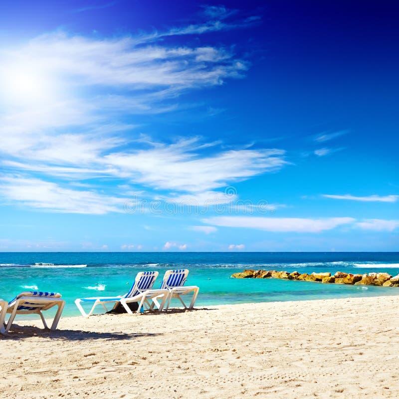 Καραϊβική παραλία και τροπική θάλασσα στην Αϊτή στοκ εικόνες