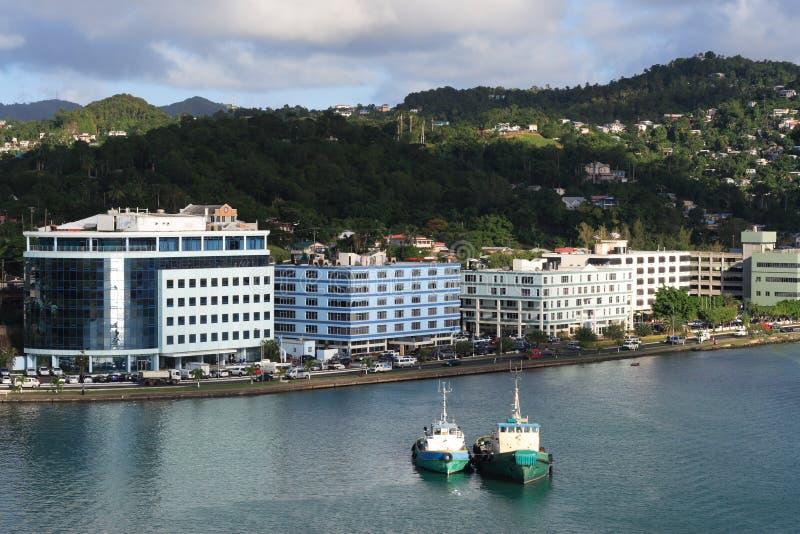 καραϊβική πόλη στοκ εικόνες