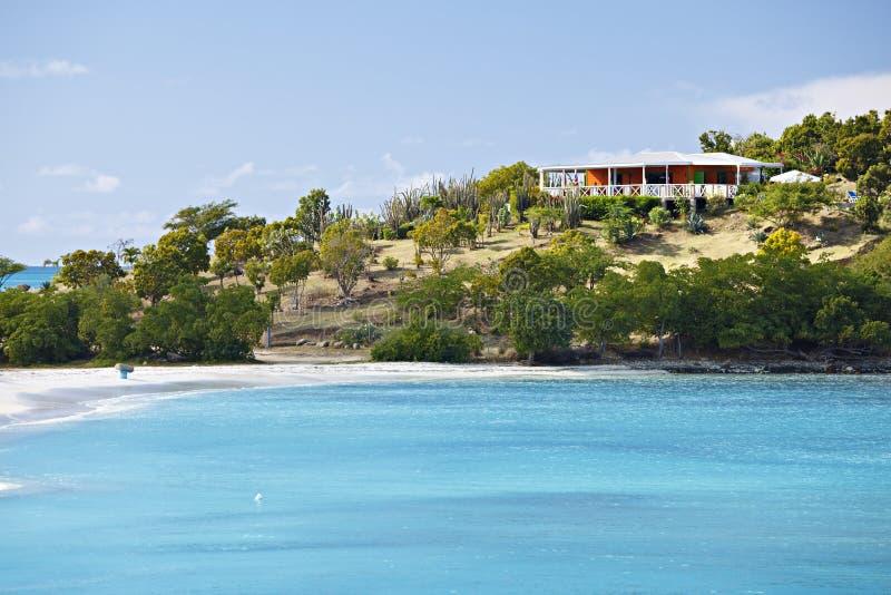 Καραϊβικοί παραλία και φραγμός, Αντίγκουα στοκ εικόνα