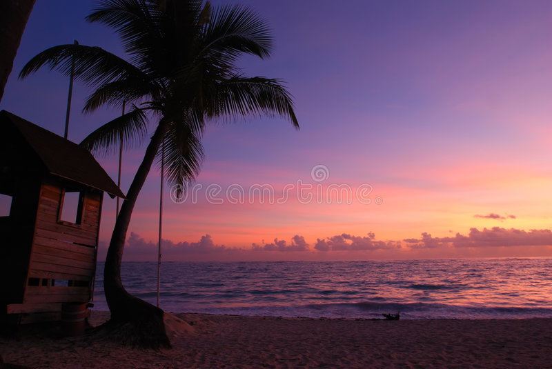 καραϊβικό ηλιοβασίλεμα στοκ εικόνα