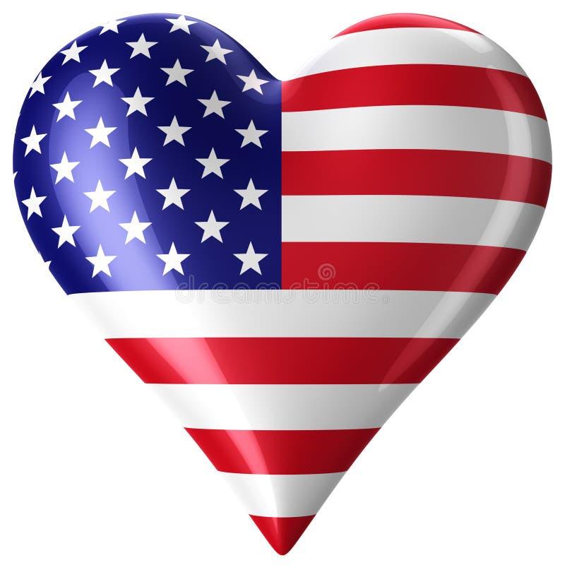 καρδιά αμερικανικών σημα&iota ελεύθερη απεικόνιση δικαιώματος