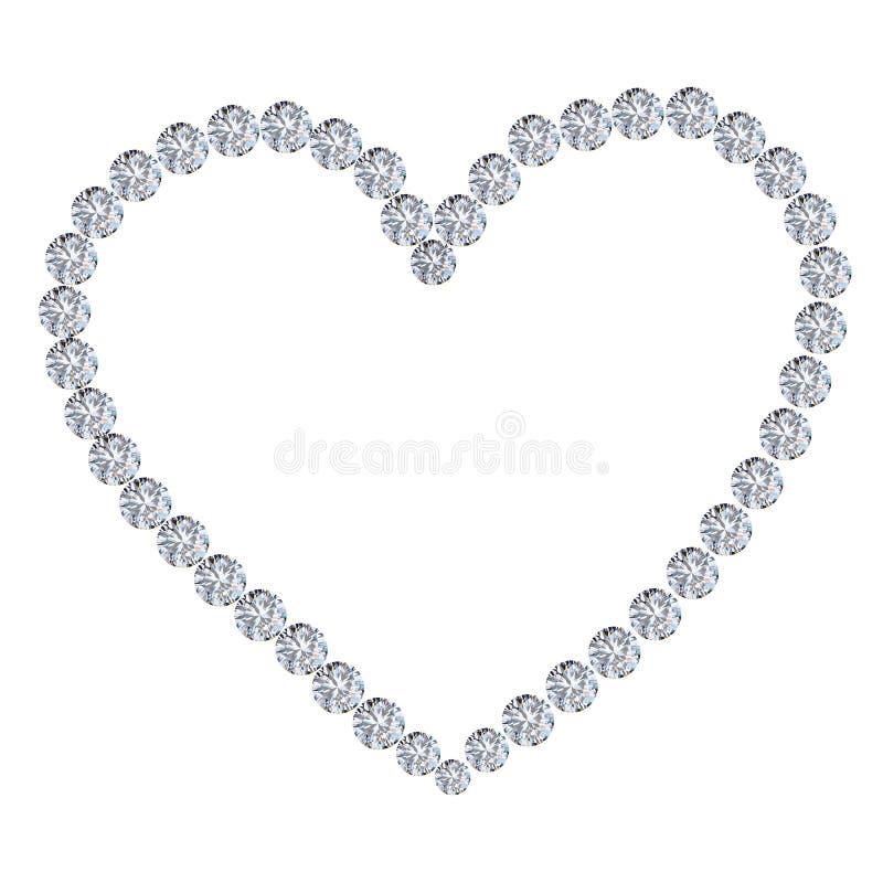 καρδιά διαμαντιών διανυσματική απεικόνιση