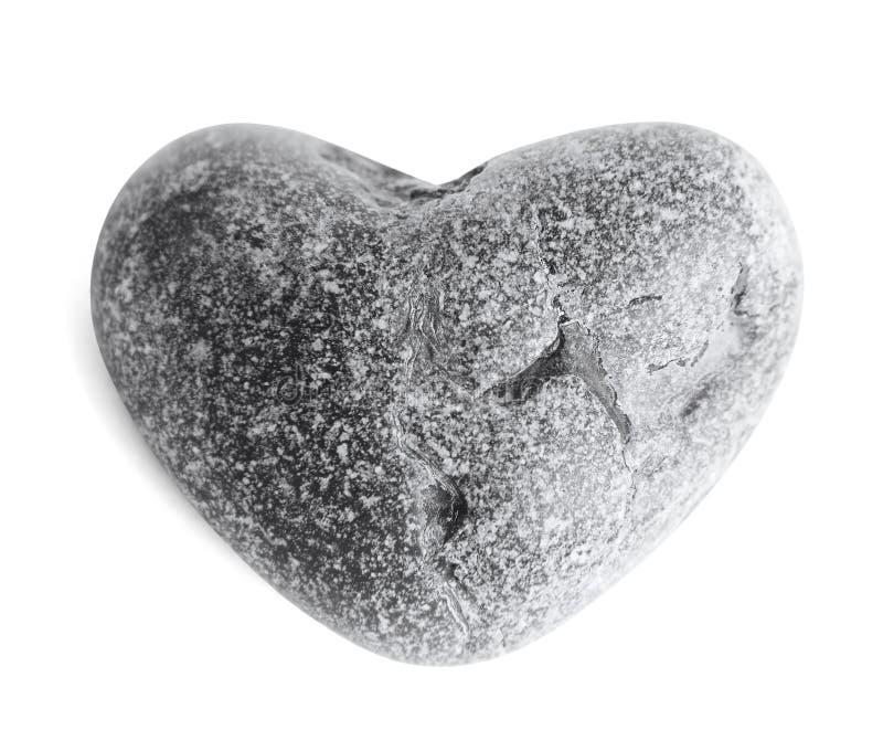 Καρδιά-διαμορφωμένη πέτρα θάλασσας (χαλίκι) στο λευκό στοκ φωτογραφία με δικαίωμα ελεύθερης χρήσης