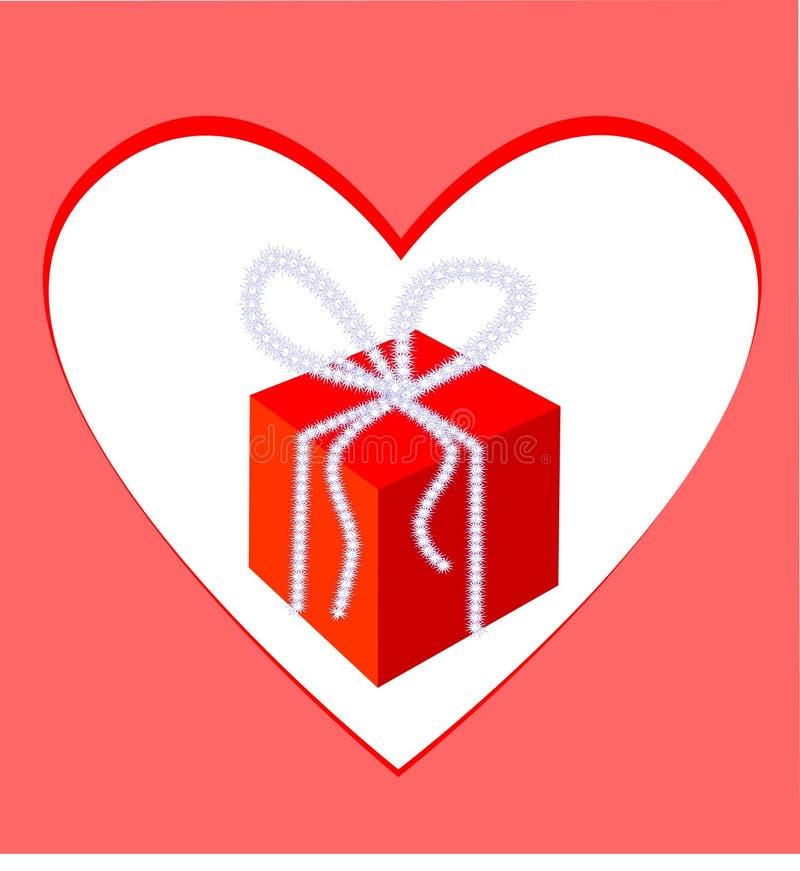 καρδιά δώρων πλαισίων κιβ&omega ελεύθερη απεικόνιση δικαιώματος