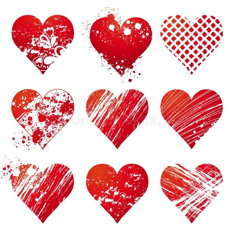 καρδιά εννέα διάνυσμα απεικόνιση αποθεμάτων