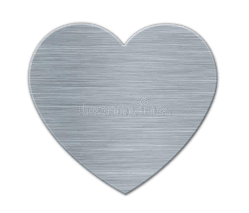 Καρδιά ημέρας των γκρίζων βαλεντίνων με τη σύσταση μετάλλων ελεύθερη απεικόνιση δικαιώματος