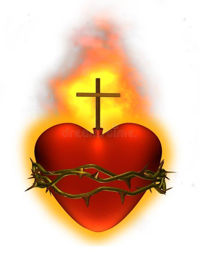 καρδιά ιερή ελεύθερη απεικόνιση δικαιώματος