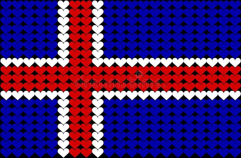 καρδιά Ισλανδία σημαιών ελεύθερη απεικόνιση δικαιώματος