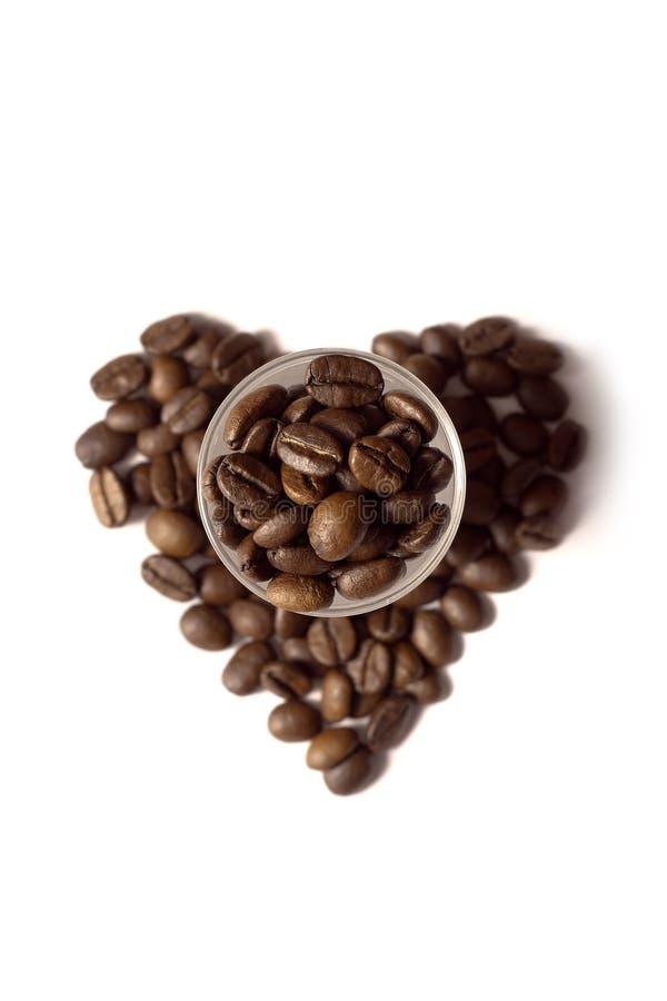 καρδιά καφέ στοκ εικόνα με δικαίωμα ελεύθερης χρήσης