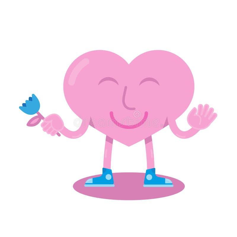 καρδιά κινούμενων σχεδίων που απομονώνεται whie απεικόνιση αποθεμάτων