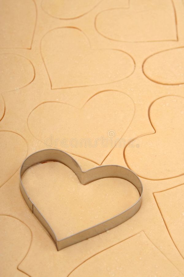 καρδιά κοπτών μπισκότων στοκ φωτογραφίες