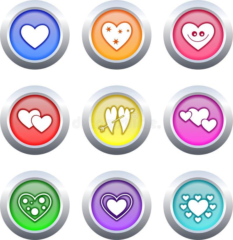 καρδιά κουμπιών απεικόνιση αποθεμάτων