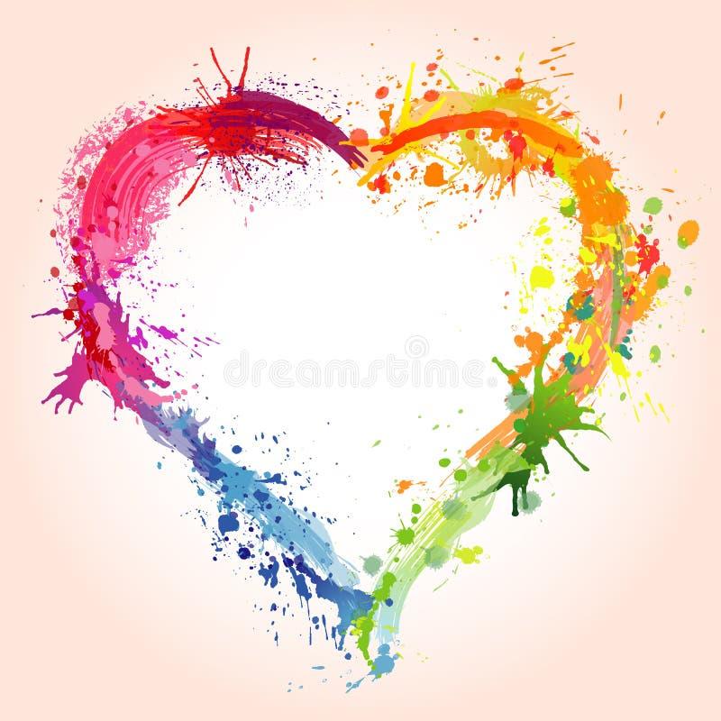 καρδιά λεκέδων διανυσματική απεικόνιση