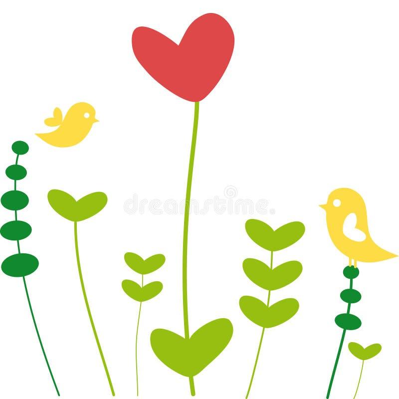 καρδιά λουλουδιών διανυσματική απεικόνιση