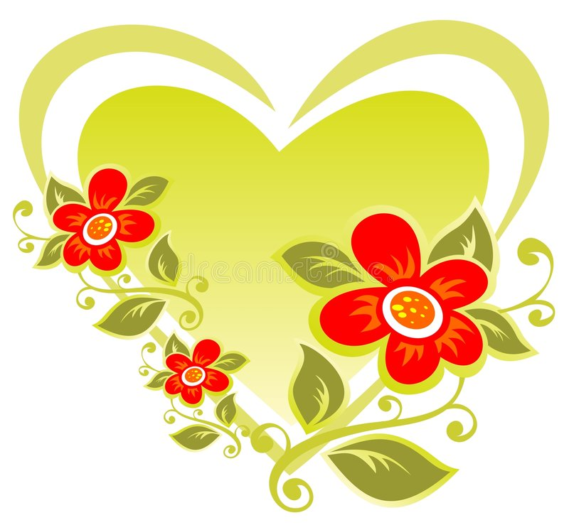 καρδιά λουλουδιών απεικόνιση αποθεμάτων