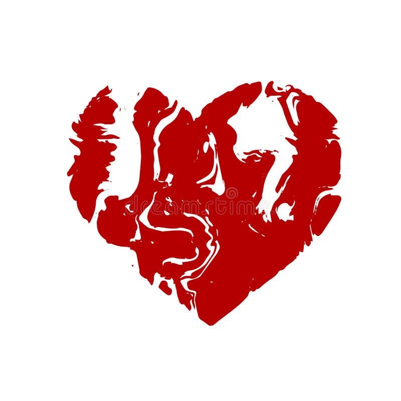 Καρδιά, μαρμάρινο ύφασμα πετρών σύστασης επίσης corel σύρετε το διάνυσμα απεικόνισης απεικόνιση αποθεμάτων