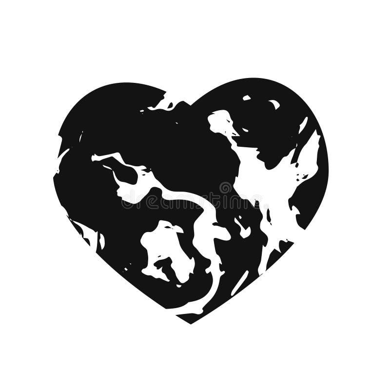 Καρδιά, μαρμάρινο ύφασμα πετρών σύστασης επίσης corel σύρετε το διάνυσμα απεικόνισης διανυσματική απεικόνιση