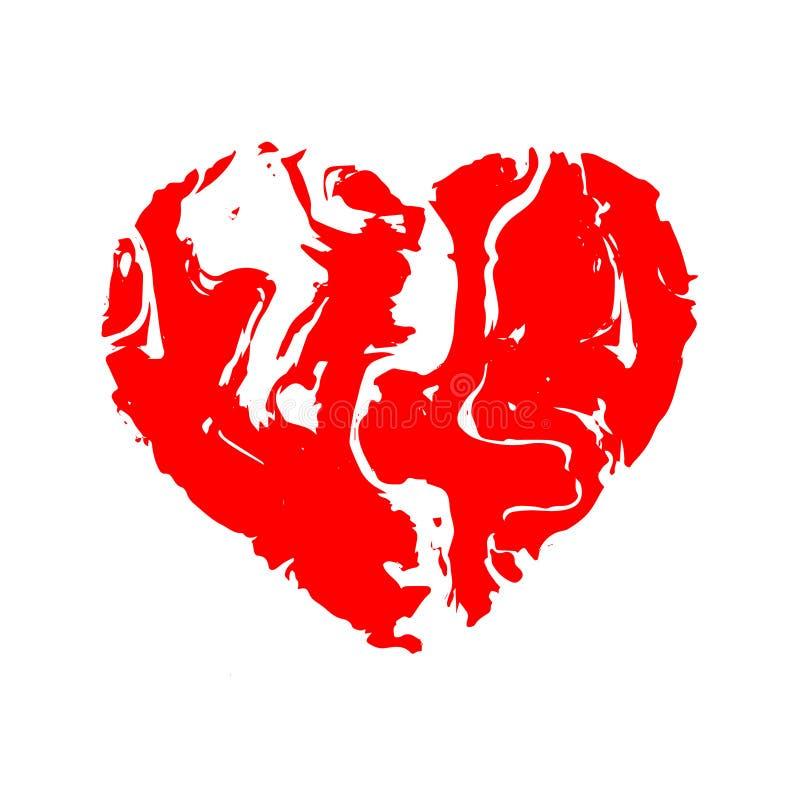Καρδιά, μαρμάρινο ύφασμα πετρών σύστασης επίσης corel σύρετε το διάνυσμα απεικόνισης ελεύθερη απεικόνιση δικαιώματος