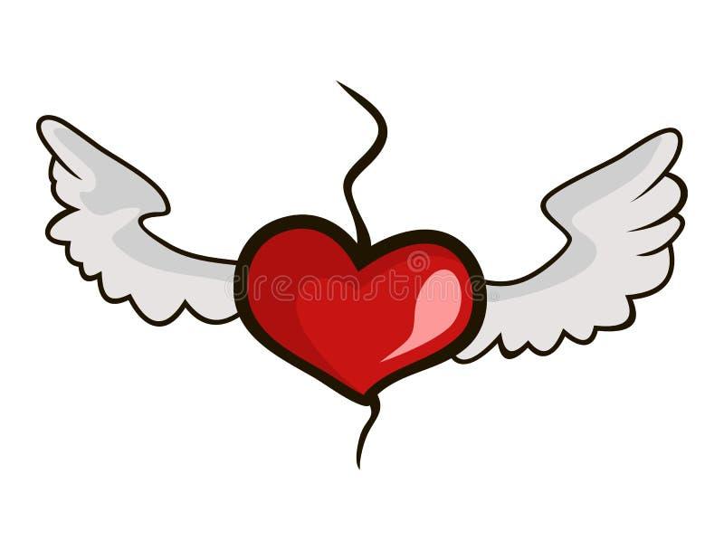 Καρδιά με τα φτερά απεικόνιση αποθεμάτων