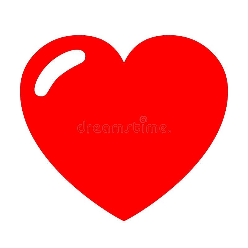 Καρδιά με τη σκίαση - διάνυσμα απεικόνιση αποθεμάτων