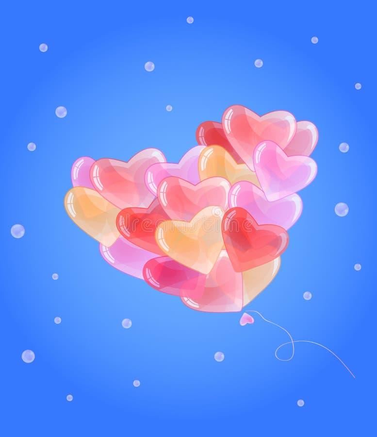 καρδιά μορφής μπαλονιών απεικόνιση αποθεμάτων