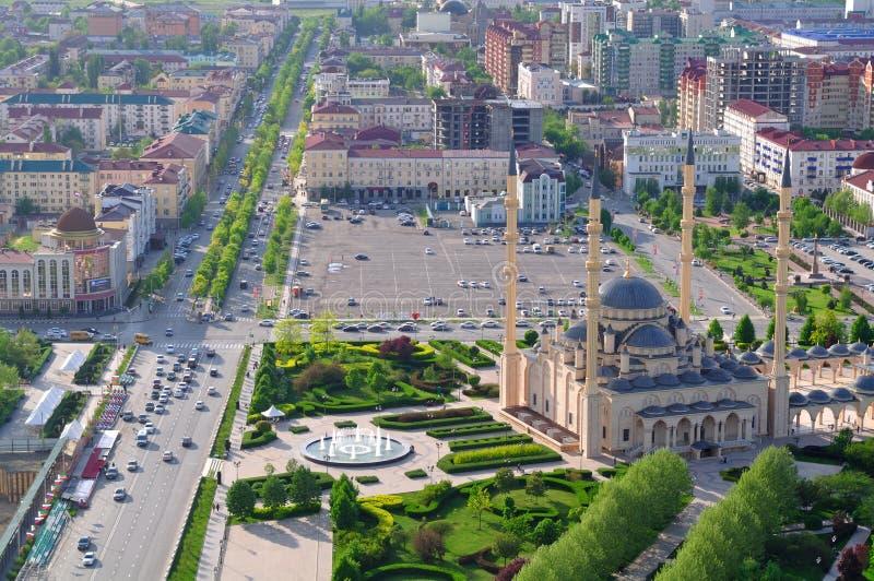 Καρδιά μουσουλμανικών τεμενών Τσετσενίας Γκρόζνυ Τσετσένια Δημοκρατία Ρωσία στοκ εικόνα