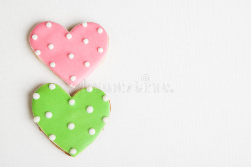 καρδιά μπισκότων στοκ φωτογραφία με δικαίωμα ελεύθερης χρήσης
