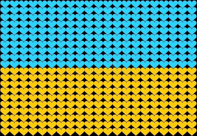 καρδιά Ουκρανία σημαιών απεικόνιση αποθεμάτων
