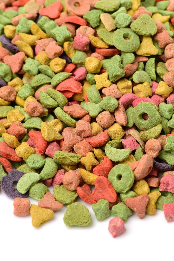 Καρδιά πλαισίων των τροφίμων γατών ή σκυλιών κατοικίδιων ζώων στοκ εικόνα
