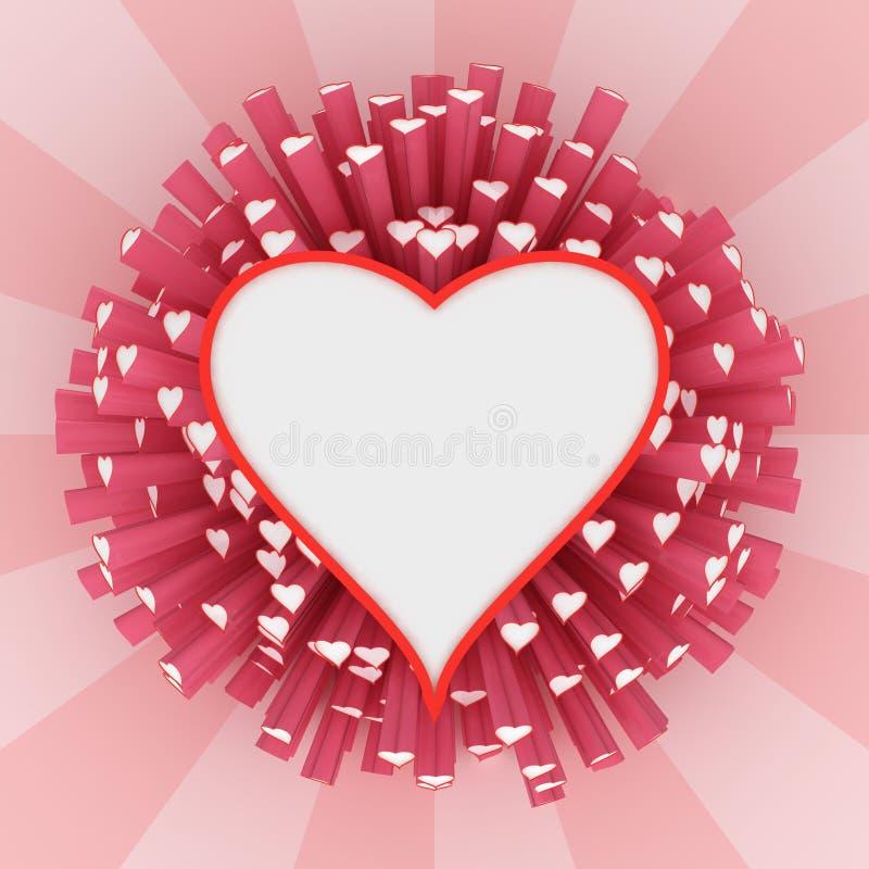 καρδιά πλαισίων διανυσματική απεικόνιση