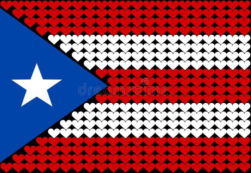 καρδιά Πουέρτο Ρίκο σημαιώ ελεύθερη απεικόνιση δικαιώματος
