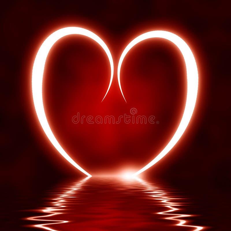 Καρδιά που απεικονίζεται στα κύματα ελεύθερη απεικόνιση δικαιώματος