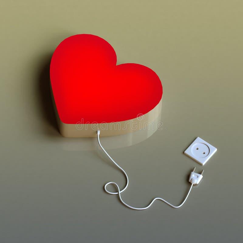 καρδιά που αποσυνδέετα&iot ελεύθερη απεικόνιση δικαιώματος