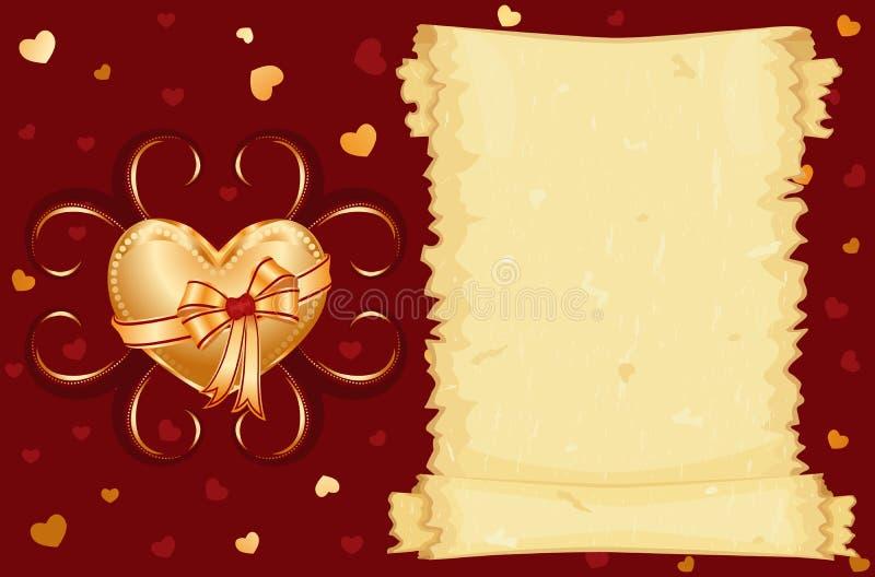 καρδιά που γίνεται χρυσή ελεύθερη απεικόνιση δικαιώματος