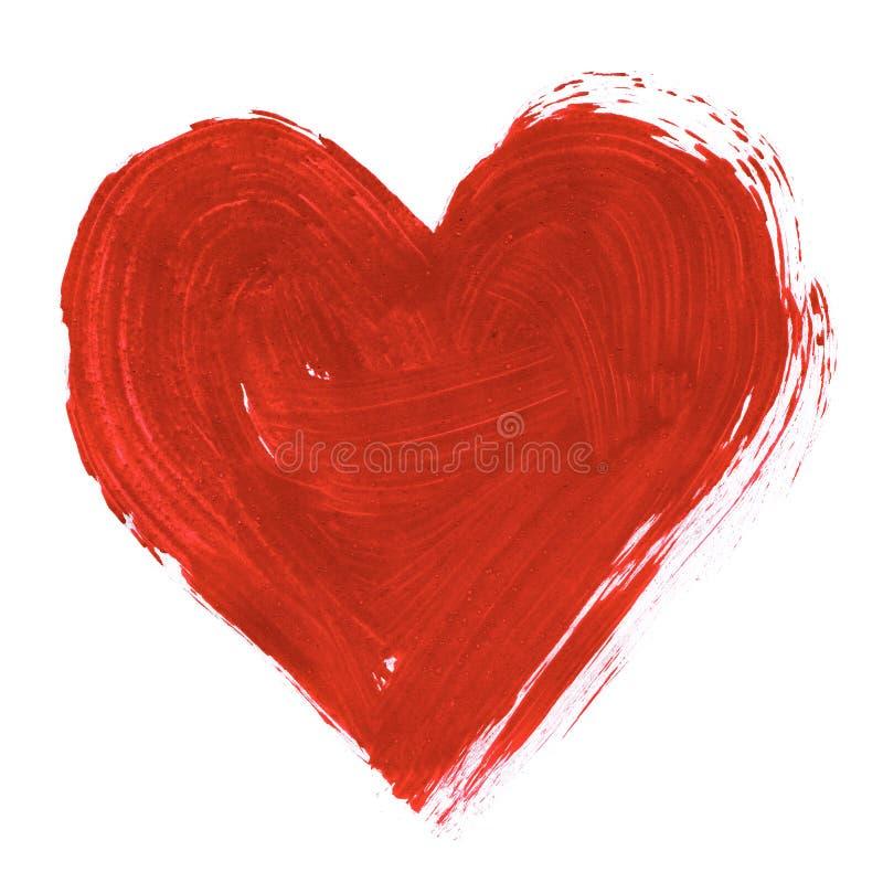 καρδιά που χρωματίζεται στοκ εικόνα