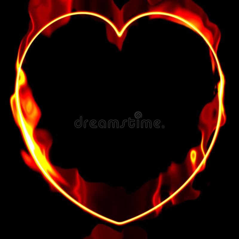 καρδιά πυρκαγιάς διανυσματική απεικόνιση