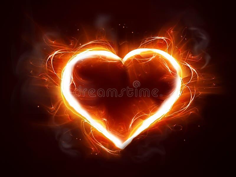 καρδιά πυρκαγιάς ελεύθερη απεικόνιση δικαιώματος