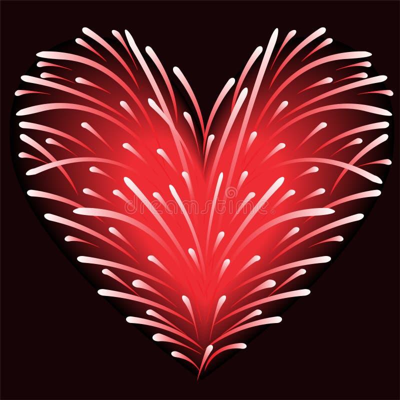καρδιά πυροτεχνημάτων ελεύθερη απεικόνιση δικαιώματος