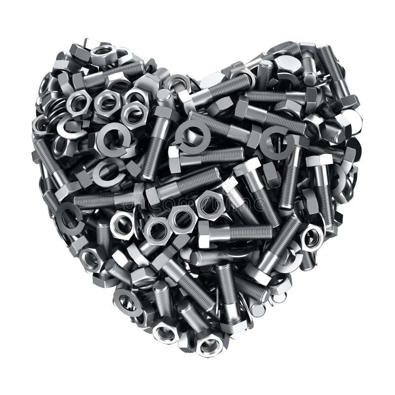 Καρδιά σιδήρου διανυσματική απεικόνιση